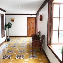 Beautiful floor tiles on every level.