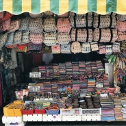 So many stalls selling local goods.