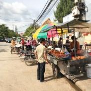 Street food stalls.