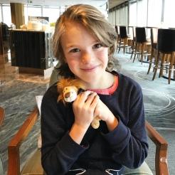 Loves his little Ritz Lion named Pierre