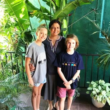Our host Mrs Jayakody