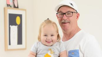 Quinnie and her Pa, who helped to save Quinnie's life as part of the Paired Kidney Exchange Program