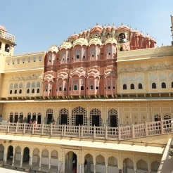 Inside of Hawa Mahal