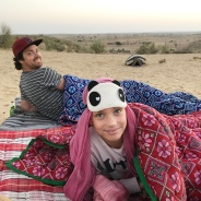 Waking up at sunrise in the middle of the Indian desert - amazing!!