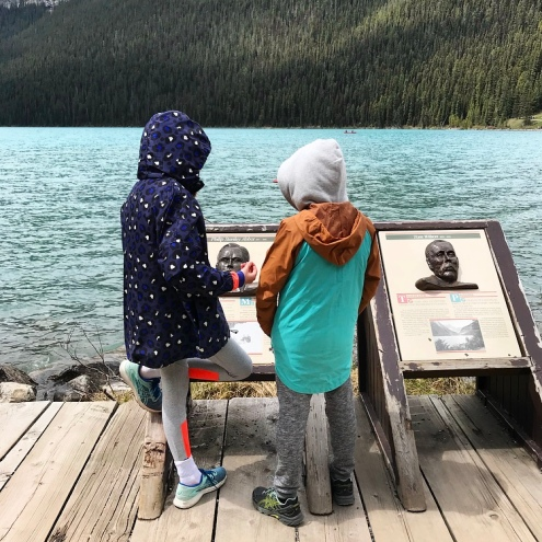 Learning about the past Adventurers of Lake Louise