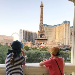 Waiting for the Bellagio fountain show