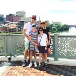 Great views from the John Seigenthaler Bridge